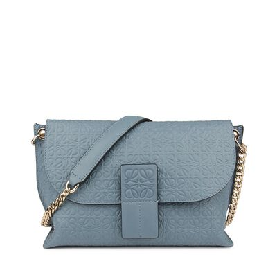 LOEWE Avenue Bag Stone Blue front