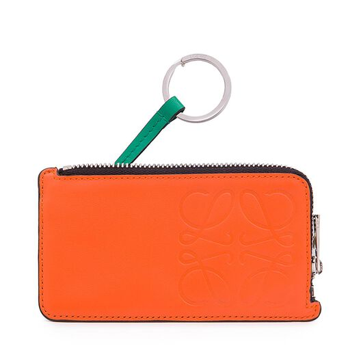 LOEWE Key/Coin Holder Anagram Orange/Black/Green/Paladium all