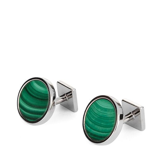 Round Cufflink With Anagram