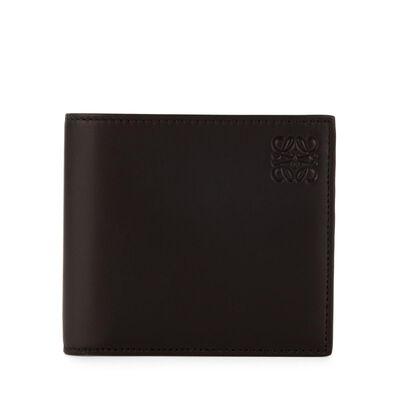 LOEWE Bifold/Coin Wallet Black/Kakhi Green front