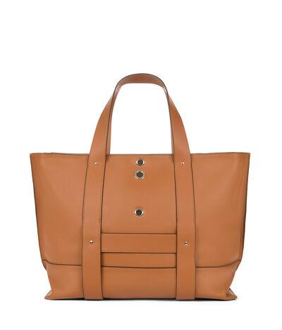LOEWE Eyelet Tote Bag Tan front