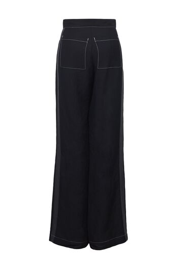 LOEWE Flare Trousers Patch Pockets Black all