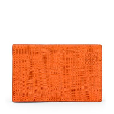 LOEWE Business Card Holder Orange front