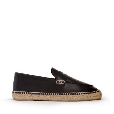 LOEWE Loafer Espadrille Black front