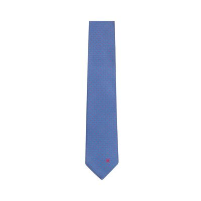 LOEWE 7Cm Jacquard Dots Tie Blue/Red front