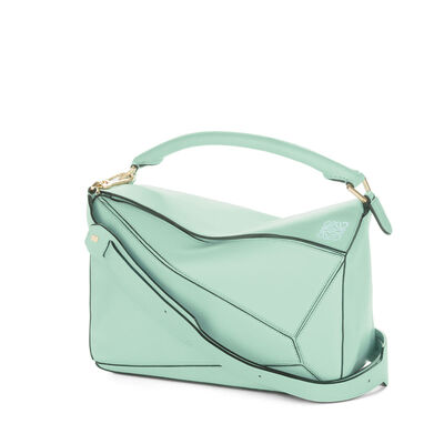 LOEWE Bolso Puzzle Verde Agua front