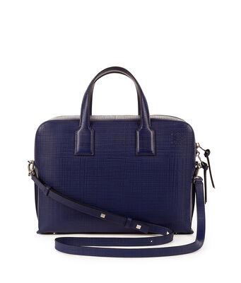 LOEWE Goya Briefcase Navy Blue front