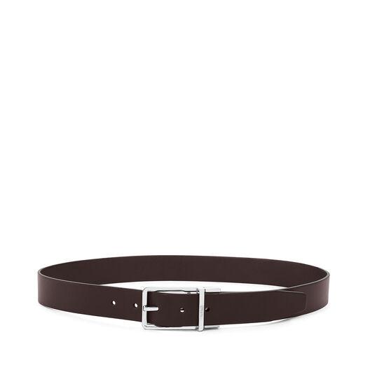 LOEWE Formal Belt 3.2Cm Adj/Rev Black/Dark Brown/Ruthenium all