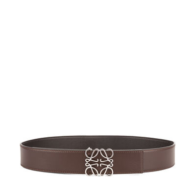 LOEWE Anagram Belt 4Cm Black/Chocolate front