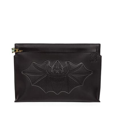 LOEWE Bat T Pouch Black front