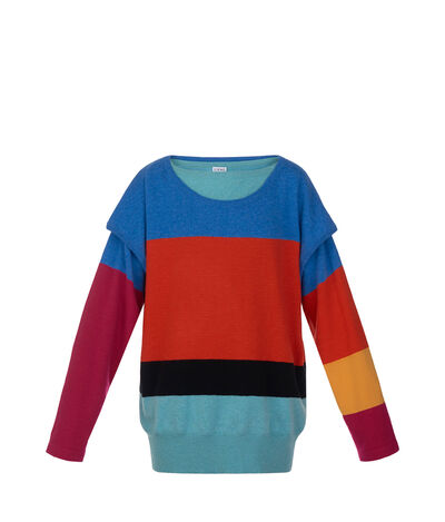 LOEWE Double Layer Sweater Rainbow Multicolour front