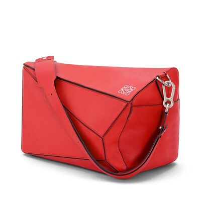 LOEWE Puzzle Xl Bag Primary Red front