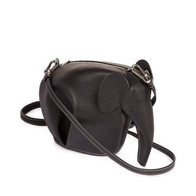 LOEWE Elephant Mini Bag Black/White front