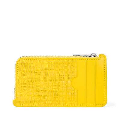 LOEWE Coin/Card Holder Yellow front