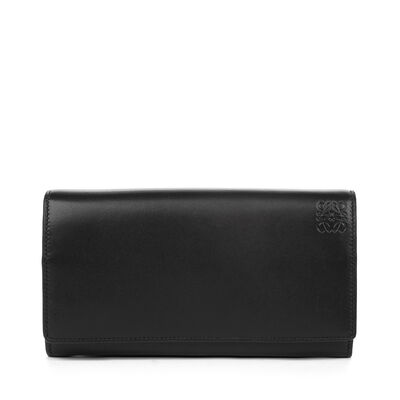 LOEWE Continental Wallet Black/Candy front