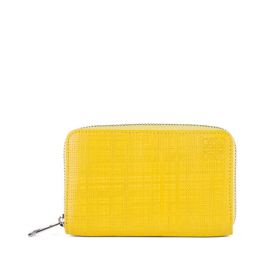 LOEWE Zip Card Holder Yellow all