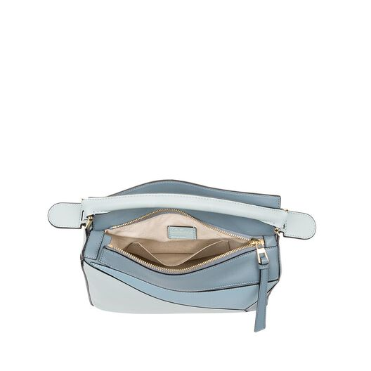 LOEWE Puzzle Small Bag Aqua/Light Blue/Stone Blue all