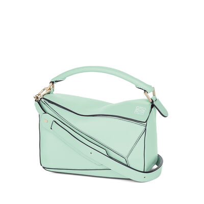 LOEWE Bolso Puzzle Pequeño Verde Agua front