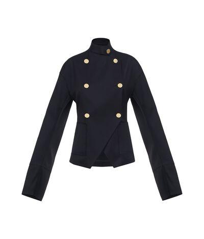 LOEWE Db Gold Button Jacket Black front