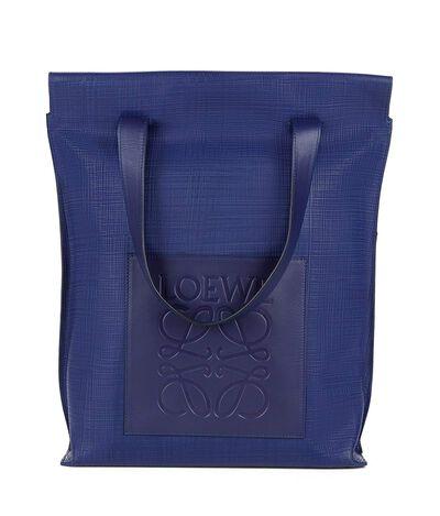 LOEWE Shopper Bag Navy Blue front
