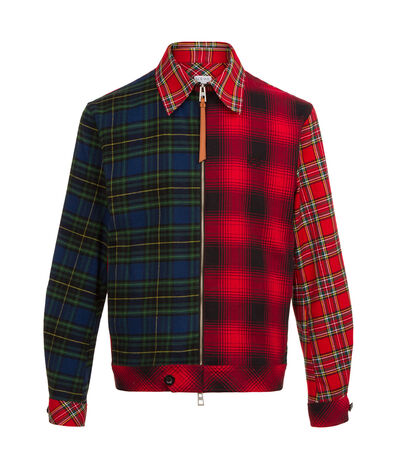 LOEWE Zip Jacket Tartan Patchwork Multicolour front