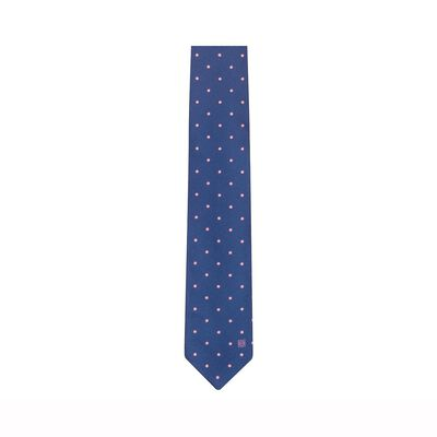 LOEWE 7Cm Dots Jacquard Tie Blue/Pink front