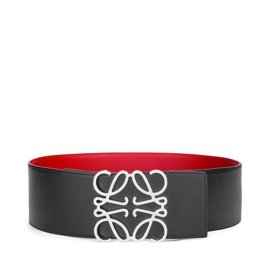 LOEWE Anagram Belt 8Cm Red/Black/Palladium all