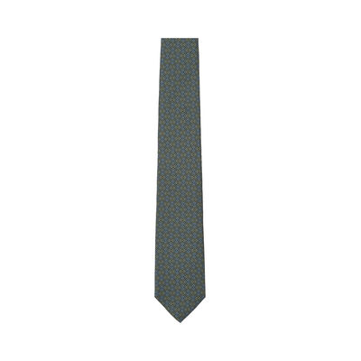 LOEWE 7Cm Tricolor Anagram Tie Green/Blue front