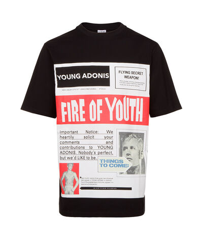 LOEWE T-Shirt Fire Of Youth Poster Black front