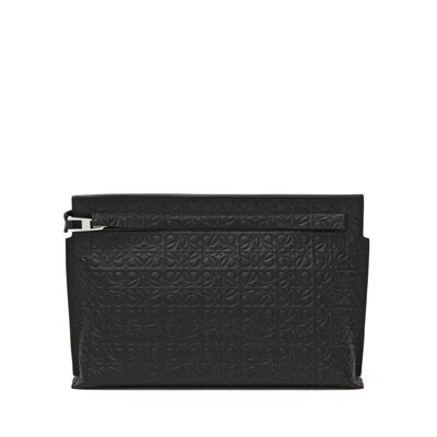 LOEWE Medium T Pouch Black front