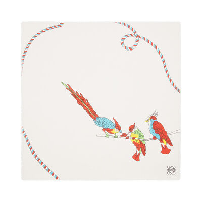 LOEWE 140X140 Paula Parrots White/Multicolor front
