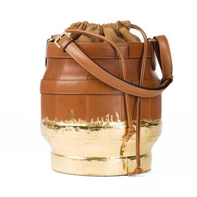 LOEWE Lantern Bag Tan/Gold front