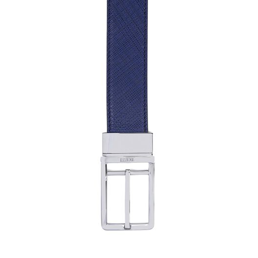 LOEWE Formal Belt 3.2Cm Adj/Rev Navy Blue/Black/Palladium all