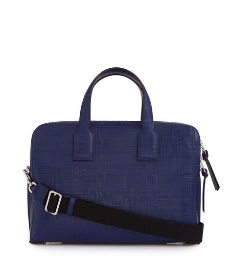 LOEWE Goya Thin Briefcase Navy Blue all