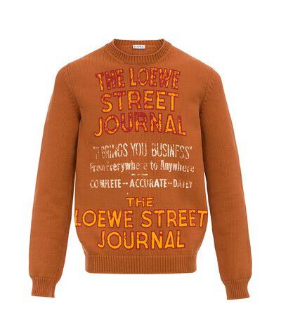 LOEWE Sweater Loewe Street Journal Camel front