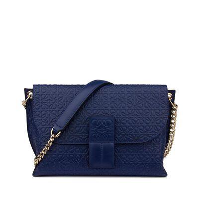LOEWE Avenue Bag Navy Blue front