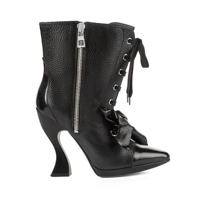 Lace Up Zip Ankle Boot