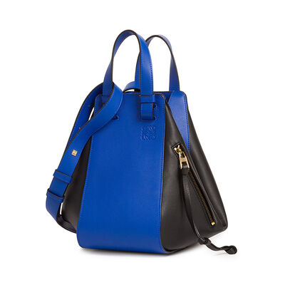 LOEWE Hammock Small Bag Electric Blue/Black front