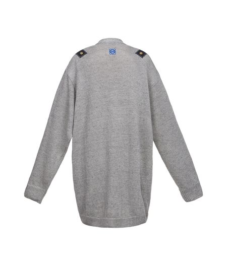 LOEWE Cardigan W/ Leather Inserts Grey all