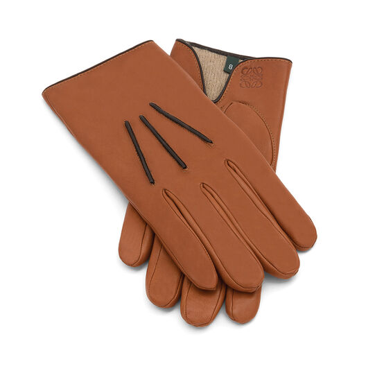 LOEWE Piping Glove Camel/Brown all