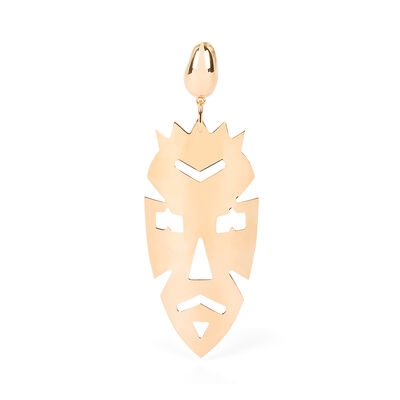 LOEWE Vintage Mask Earrings Gold front