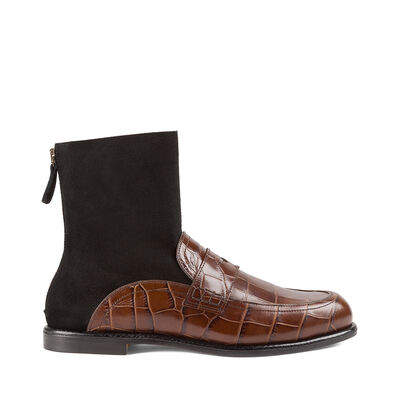 LOEWE Sock Boot Loafer Brown/Black front
