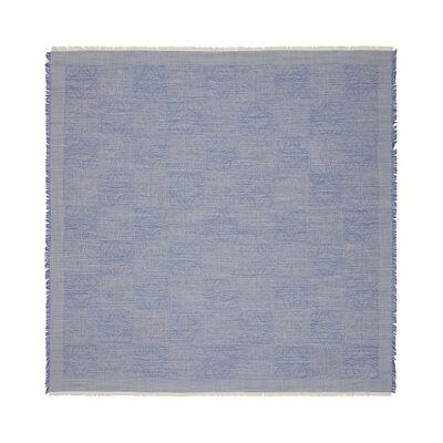 LOEWE 120X120 Damero Scarf Royal Blue front