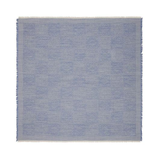 LOEWE 120X120 Damero Scarf Royal Blue all