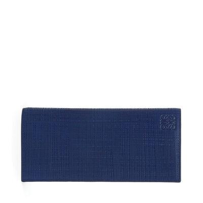 LOEWE Long Horizontal Wallet Navy Blue front