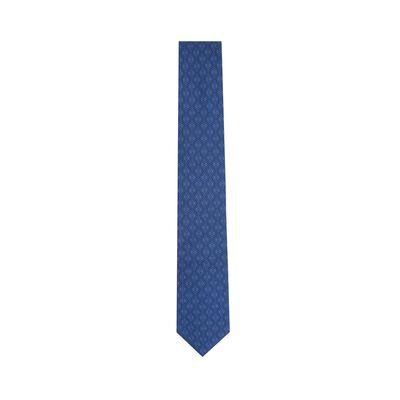 LOEWE 7Cm Tricolor Anagram Tie Navy Blue/Blue front