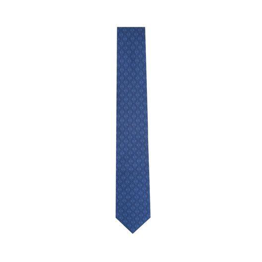 LOEWE 7Cm Tricolor Anagram Tie Navy Blue/Blue all