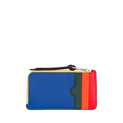 LOEWE Coin Card Holder Rainbow Multicolor/Black front