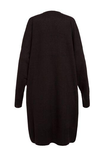 LOEWE Vneck Sweater Dress Greek Black/Brown all