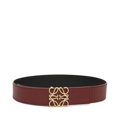 LOEWE Anagram Belt 4Cm Brick Red/Black/Gold front